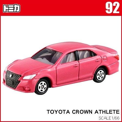 【 TOMICA火柴盒小汽車 】TM092 CROWN ATHLETE 豐田皇冠 ( 粉紅色 ) ╭★ JOYBUS玩具百貨