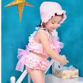 萬聖節大促銷 女童泳衣分體裙式寶寶公主小中大童韓國可愛比基尼泳裝兒童游泳衣