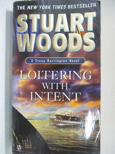 【書寶二手書T8/原文小說_LAY】Loitering With Intent_Woods, Stuart