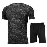 男士運動套裝夏季速干健身衣