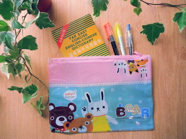 文件袋【ZDZ011】韓版可愛文件袋_A5大小!文具 化妝用品 手機 123ok