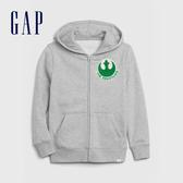 Gap男童 Gap x Star Wars星際大戰系列休閒連帽外套 615959-灰色