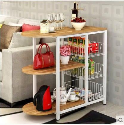 廚房置物架微波爐架收納置物架落地層架碗櫃架電器多功能儲物碗架