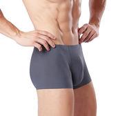 男士內褲冰絲平角褲素色一片式無痕超薄全館免運