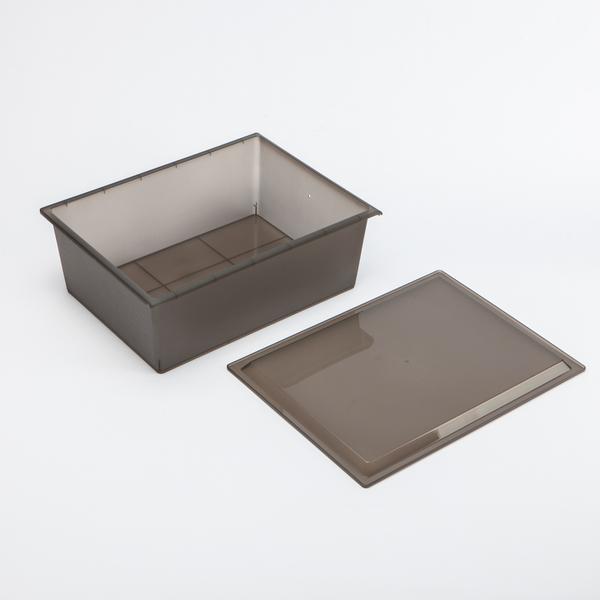 基本生活附蓋收納盒39*28.8-霧黑-生活工場