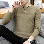 男士毛衣秋冬季圓領韓版潮流青年針織撞色套頭休閒毛線衣 卡卡西