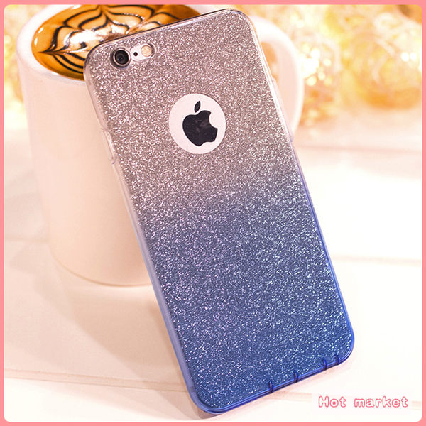 蘋果 iPhone 6 6S Plus 4.7吋 5.5吋 漸變 閃粉 手機殼 矽膠套 保護殼 漸層殼 簡約 TPU 軟殼 手機套 全包邊