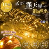 LED滿天星銅線燈串 10米100燈 裝飾燈 背景燈 串燈 LED燈【BA0502】《約翰家庭百貨