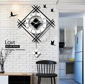 掛鐘 北歐石英鐘表掛鐘客廳掛表個性創意家用現代簡約大氣時尚時鐘掛墻【快速出貨八折搶購】