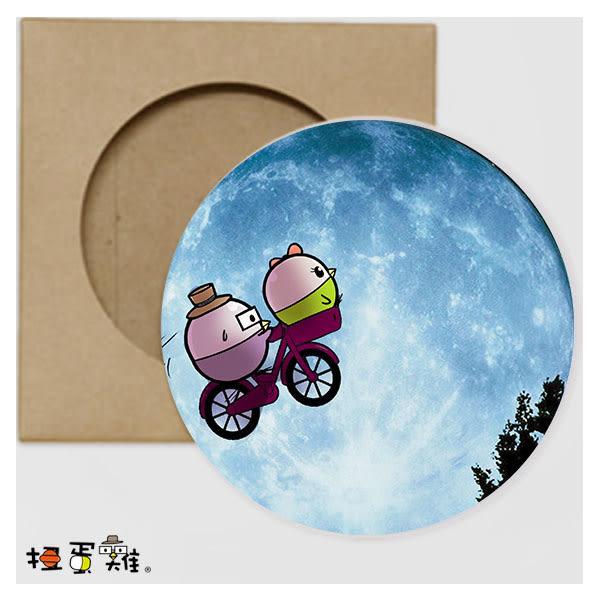 扭蛋雞-從心扭轉奇蹟|圓形吸水杯墊-GG&NG|台灣原創插畫|桌面小物|療癒勵志|
