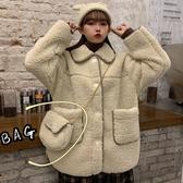 羊羔毛外套女冬季新款韓版寬鬆復古休閒百搭皮毛一體毛絨外衣 雅楓居