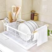 瀝水架-日式廚房碗架瀝水架水槽碗碟收納架多功能碗筷置物架不銹鋼瀝水籃