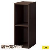 【DIY】22cm彩色櫃 COLOBO SLIM 雙層櫃 DBR NITORI宜得利家居