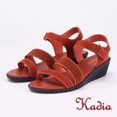 kadia.舒適牛皮涼鞋(9151-20咖啡色)
