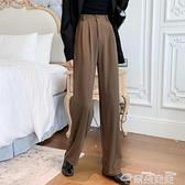 西裝褲西裝褲垂感直筒褲寬鬆褲子女春秋工裝闊腿褲顯瘦百搭新款2021爆款  雲朵 618購物