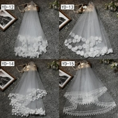 新娘頭紗旅拍簡約頭紗短款韓式森繫頭飾