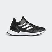 Adidas Rapidarun El K [EF9258] 中童鞋 運動 休閒 慢跑 路跑 透氣 柔軟 舒適 黑白
