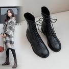 歐美個性時尚帥氣馬丁靴 騎士靴 低跟短靴 ~2色