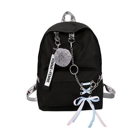 後背包古著感少女書包ins超火後背包女2020韓版大容量高中學生背包 愛麗絲