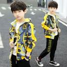 男童外套 男童外套春秋款洋氣潮酷兒童秋裝新款男孩韓版中大童外衣夾克