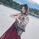 沙灘巾沙灘防曬披肩女夏民族風圍巾泰國旅游絲巾超大海邊紗巾長款沙灘巾