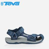 丹大戶外【TEVA】美國 男款 HURRICANE TOE PRO 護趾水陸機能運動款涼鞋1000352 NGRY海軍藍灰