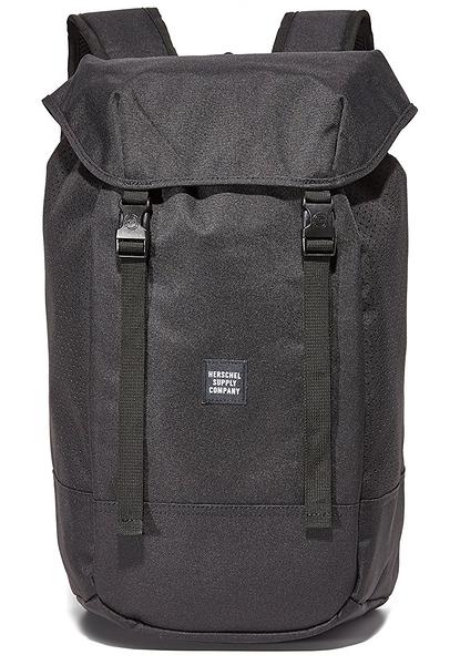 Hsin 85折 現貨 Herschel Iona Aspect 網狀 黑色 全黑 帆布 後掀 筆電夾層 大容量 旅行 後背包