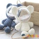 小熊手工編織包包毛線diy材料包自制雙肩透明背包【淘嘟嘟】