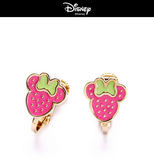 【迪士尼系列】水果系草莓米妮夾式耳環~夏綠蒂didi-shop