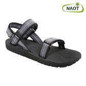 NAOT 男 健走型運動涼鞋 HAVEN 38500X11【灰黑格】/ 城市綠洲 (織帶、輕量、快乾、抑菌)