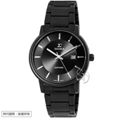 【台南 時代鐘錶 SIGMA】簡約時尚 藍寶石鏡面 日期顯示 鋼錶帶男錶 1122M-B01 深灰/黑 40mm