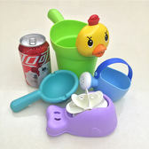 四件套裝 兒童浴室玩具 嬰兒洗澡玩具萌小雞水勺 兒童玩具 洗澡玩具