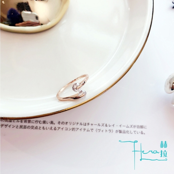 【Hera 赫拉】簡約百搭 鋯石戒指 金色轉運戒指