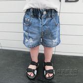?老闆定錯價? 兒童牛仔褲子韓版男童五分褲1-2345歲寶寶破洞短褲潮