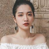 耳環超仙冷淡風耳環韓國氣質長款吊墜個性百搭歐美夸張夜店 曼莎時尚