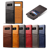 Note8 S8 pluS S8+ 三星 手機殼 保護殼 質感 時尚 插卡 S8+ 硬殼 皮革 小牛?插卡後殼 Note8手機殼