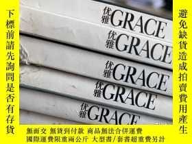 二手書博民逛書店優雅罕見GRACE 2016年6冊合售 封面人物:劉亦菲、蔣勤勤