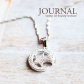 925純銀 閃亮星月 鎖骨鍊 短項鍊_質物日誌Journal