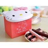 Hello Kitty 粉紅巧巧捲禮盒(黑巧克力x6+草莓巧克力x6)【小三美日】三麗鷗授權