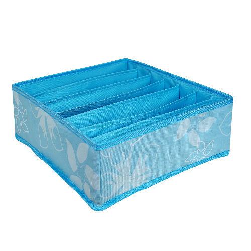 全新NG商品★居家衣物收納無蓋式(藍)7格