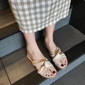 拖鞋女外穿時尚百搭夏季新款平底防滑海邊度假沙灘涼拖鞋 週年慶降價