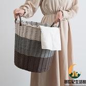 臟衣籃洗衣籃臟衣服收納筐家用衣簍裝放衣服框藤編籃子臟衣簍【創世紀生活館】