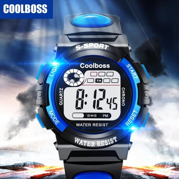 全館免運八折促銷-兒童手錶男孩女孩防水夜光計時運動男童初中小學生手錶男童電子錶