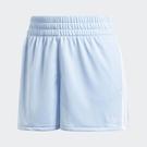 ADIDAS ORIGINALS ADICOLOR 女款 短褲 休閒 口袋 兩側開衩 水藍 【運動世界】FM2611