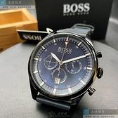 BOSS伯斯男女通用錶40mm寶藍色錶面深藍色錶帶