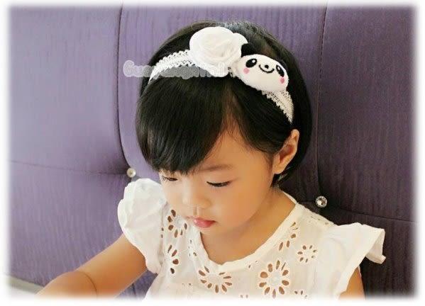 手工髮帶 花朵熊貓款兒童 寶寶 嬰兒 彈性髮帶 拍照 彌月 寫真  果漾妮妮【P3950】