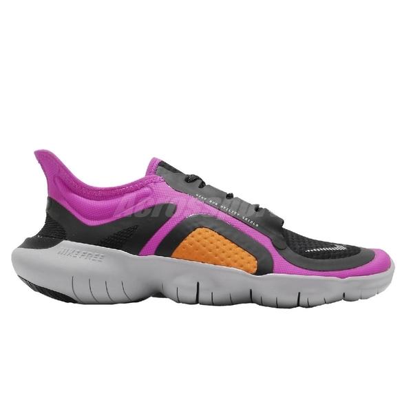 Nike 慢跑鞋 Wmns Free RN 5.0 Shield 黑 桃紅 女鞋 赤足 防潑水鞋面 運動鞋【ACS】 BV1224-600