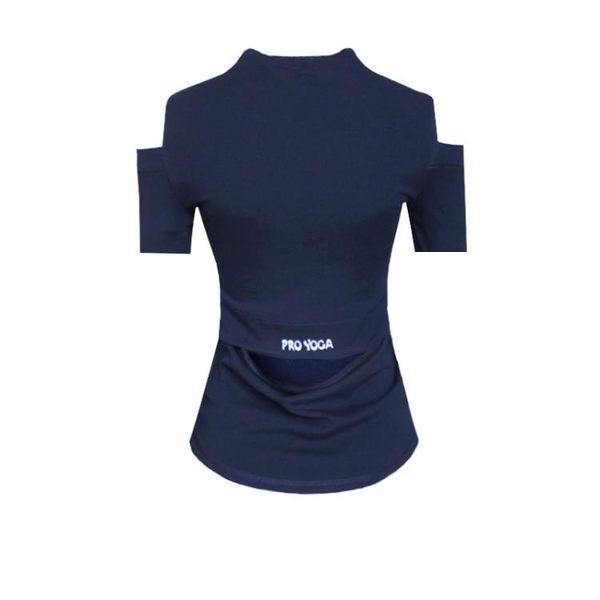 年末鉅惠 性感露肩露背運動T恤跑步健身短袖女速干上衣瑜伽服半袖彈力顯瘦