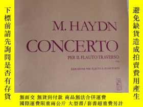 二手書博民逛書店m.haydn罕見concerto per il flauto traverso【略破】見圖Y28297 見圖