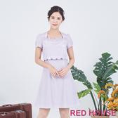 【RED HOUSE 蕾赫斯】花朵波浪洋裝(共兩色)